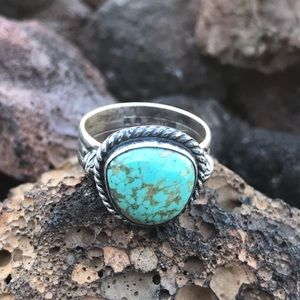 Navajo Sterling Silver Royston Turquoise Ring Sz 8
